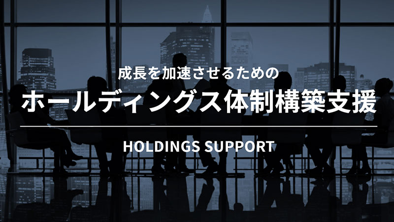 成長を加速させるためのホールディングス体制構築支援